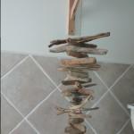 assemblage de bois flotté de la salle de bain du PATIO DU BROUILLON